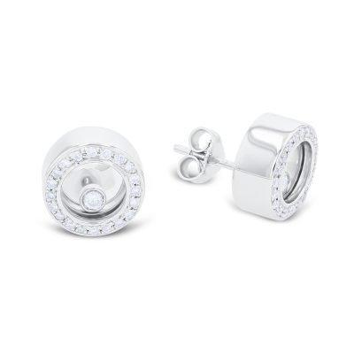 Classic Floating Diamond Earrings
