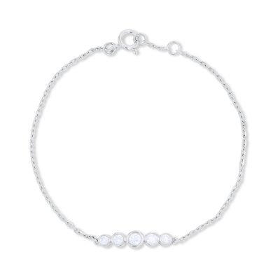 5 Solitaire Chain Bracelet