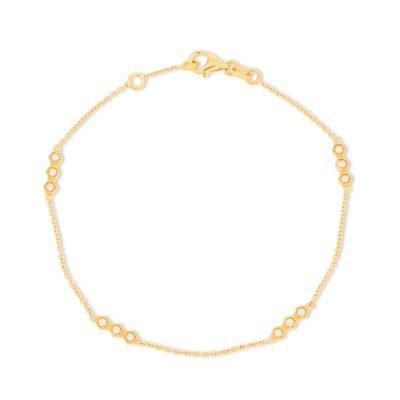Triple Dot Pattern Diamond Chain Bracelet