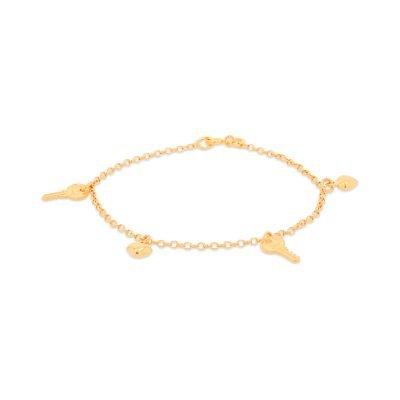 Keys and Heart Charm Bracelet