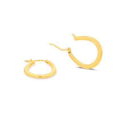 Classic Oval Hoop Earrings