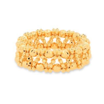 Yellow Beaded Ring