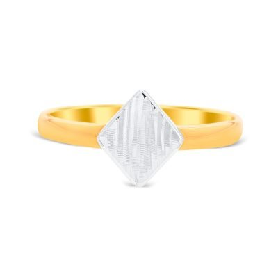 Glossy Triangle Ring