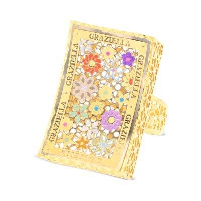Graziella Colour Flowers Ring