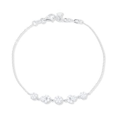 Cluster Setting Diamond Chain Bracelet