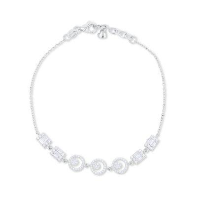 Symmetrical Diamond Chain Bracelet