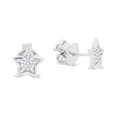 Fancy Star Shaped Micro Setting Earrings