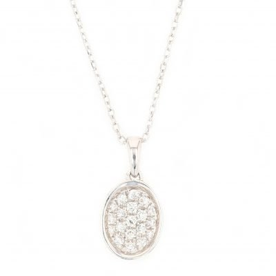 Elegant micro setting diamond pendant
