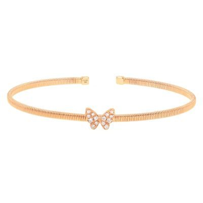 Sparkling Butterfly Bangle