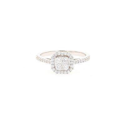 Rectangular Elegant Sparkle Ring
