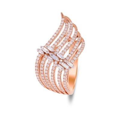 Shimmering Wave ring