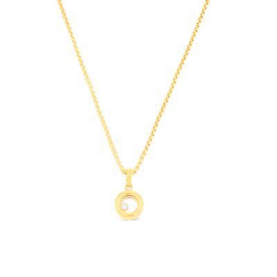 Floating diamond classic pendant