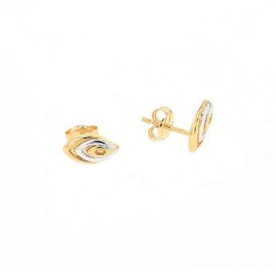 2 Colour Tear Drop Earrings