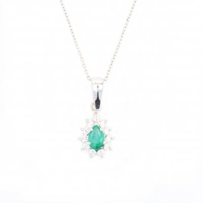 Classic syn Emerald  & Zircon Earring