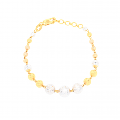 2 Colour Beaded Bracelet