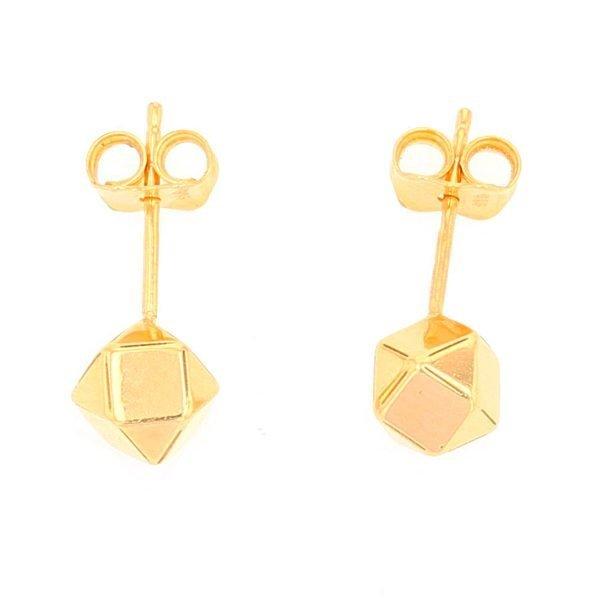 Hexagonal Stud Earrings