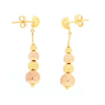 4 Ball Drop Earrings