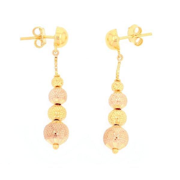 4 Ball Drop Earrings