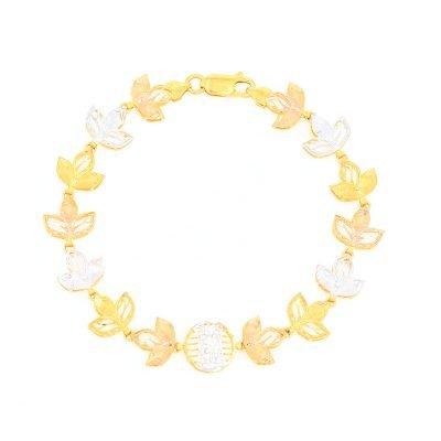 3 Colour Floral Bracelet
