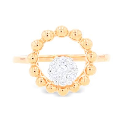 AURA CIRCLE CLUSTER DIMOND RING
