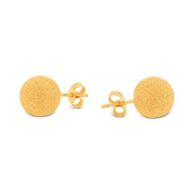 SPARKLY MATTE BALL EARRING