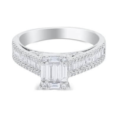 RAVISHING ROUND, BAGUETTE DIAMOND RING