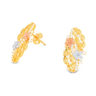 INFINITY FLOWER 3 COLOR EARRING