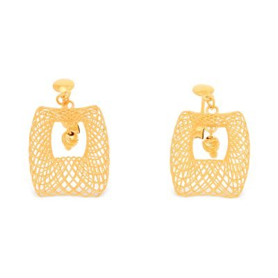 ANTIQUE DESIGN YELLOW GOLD EARRING