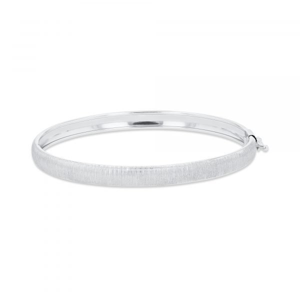 Matte Finish Gold Bangle - White Gold