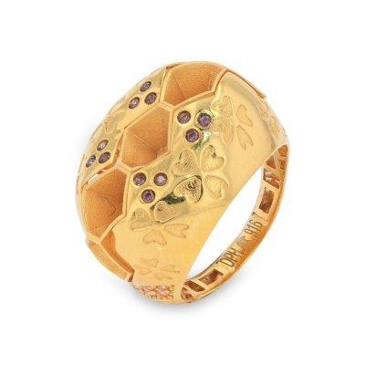 EMBELLISHED GOLD RING
