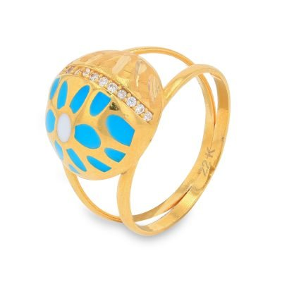 DOME STUDDED GOLD RING