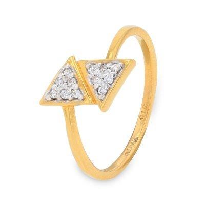 DIAMOND ARROW STACK RING