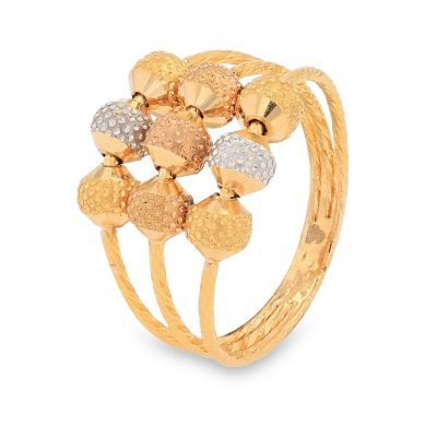 THREE TONED GOLD RING