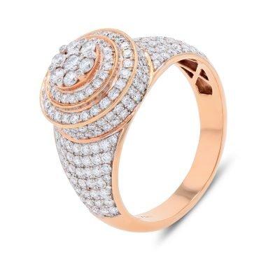 DIAMOND CLUSTER MENS RING