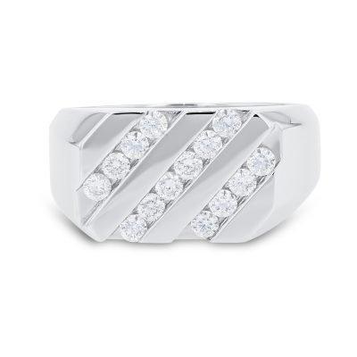 MAN'S CHANNEL SET DIAMOND RING