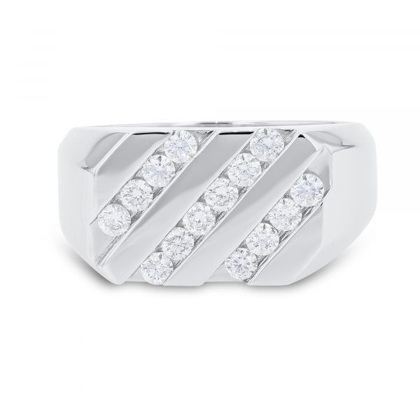 MAN'S CHANNEL SET DIAMOND RING