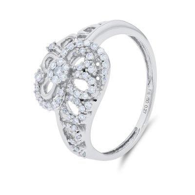FLORAL OVERLAP DIAMOND RING