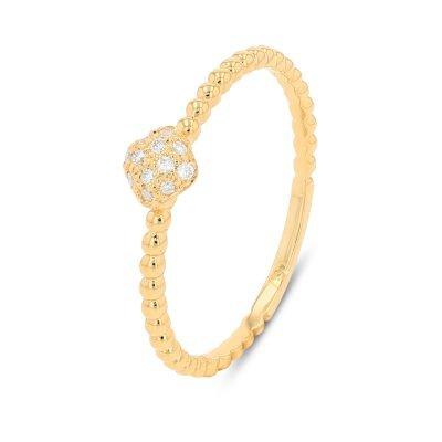 SQUARE SHAPE DELICATE DIAMOND RING