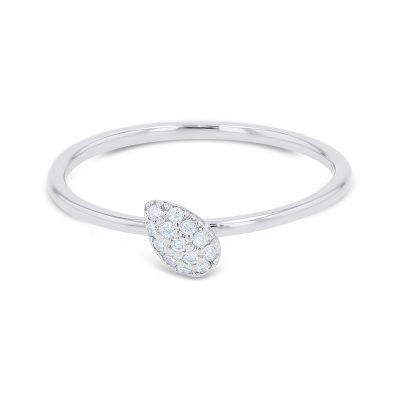 DELICATE PEAR SHAPE DIAMOND RING