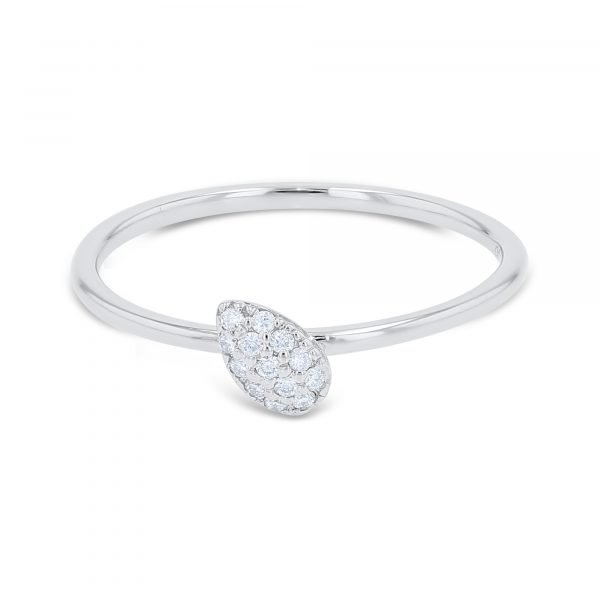 DELICATE PEAR SHAPE DIAMOND RING