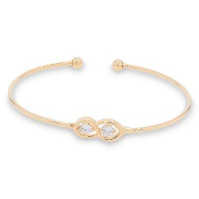 GOLD INFINITY DIAMOND BANGLE