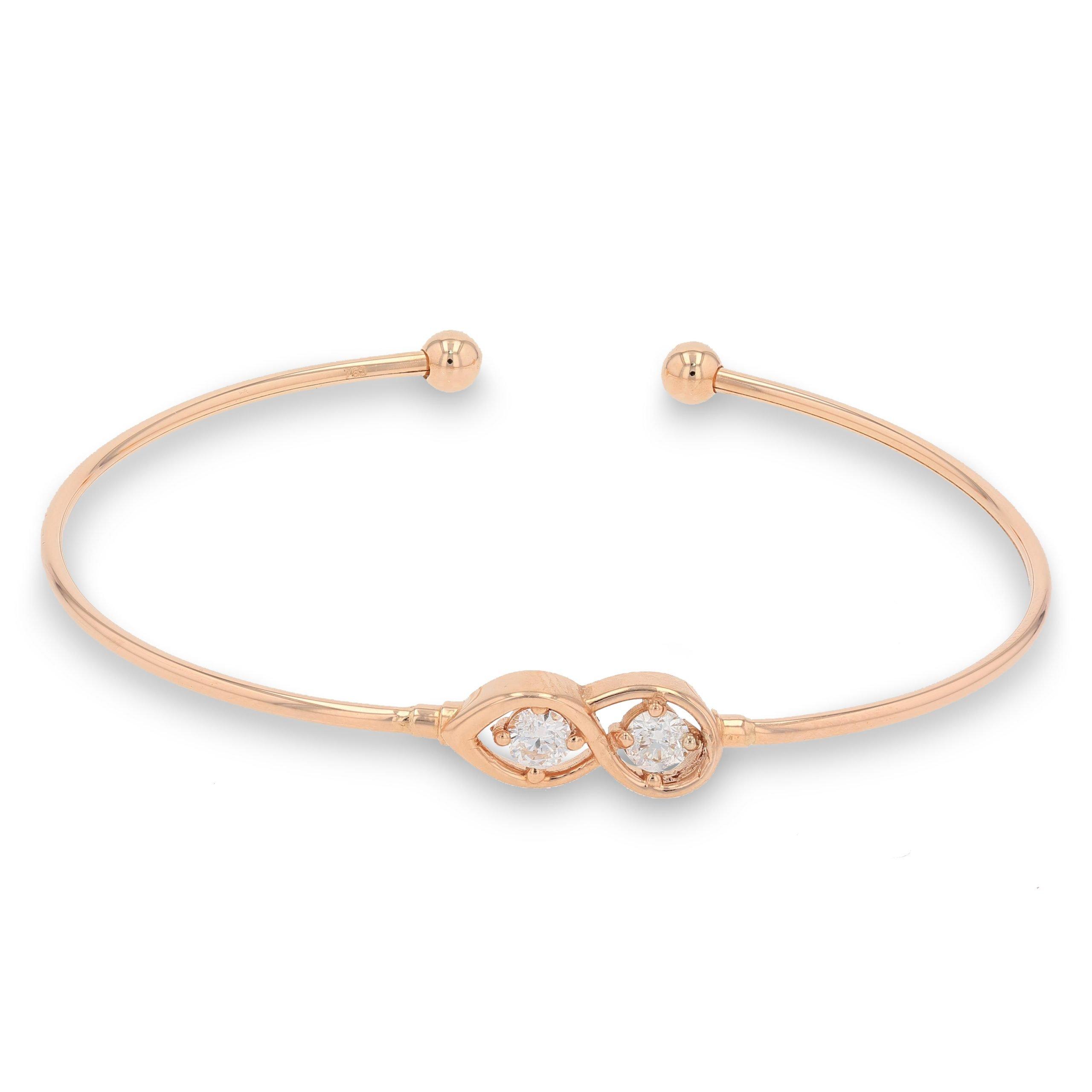 ROSE GOLD INFINITY DIAMOND BANGLE