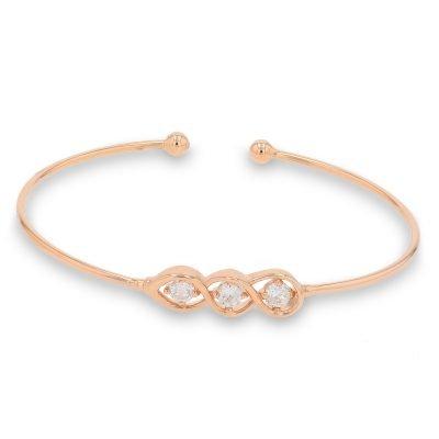 ROSE GOLD KNOTTED DIAMOND BANGLE