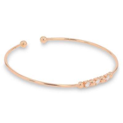 DIAMOND BEADED ROSE GOLD BANGLE