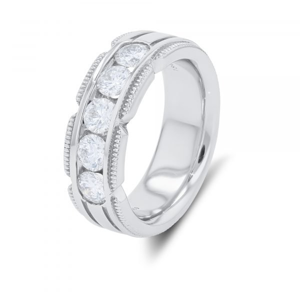 MAN'S MILGRAIN DIAMOND RING