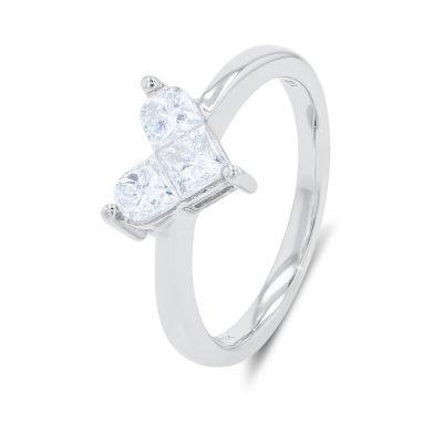LADY HEART DIAMOND RING