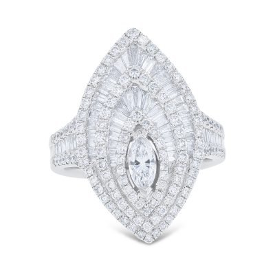 MARQUEE SHAPE DIAMOND RING
