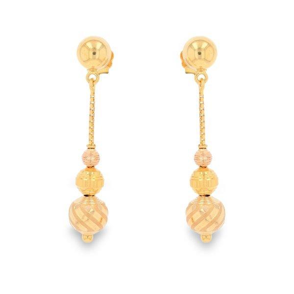 GOLD DEWDROP EARRINGS