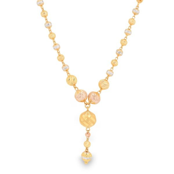 RADIANT BEADS GOLD NECKLACE