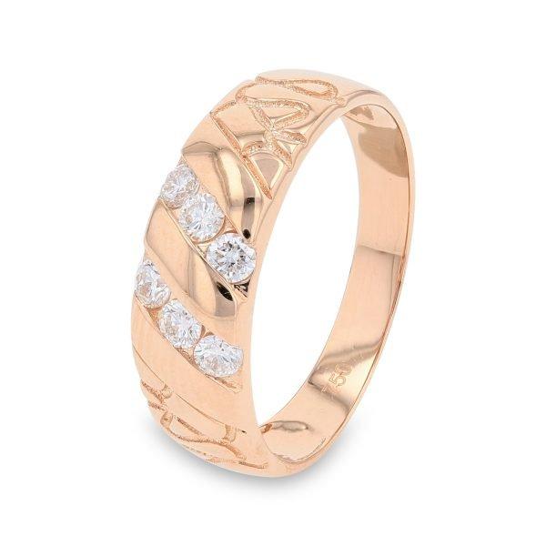 SWIRL ROSE DIAMOND RING FOR MEN